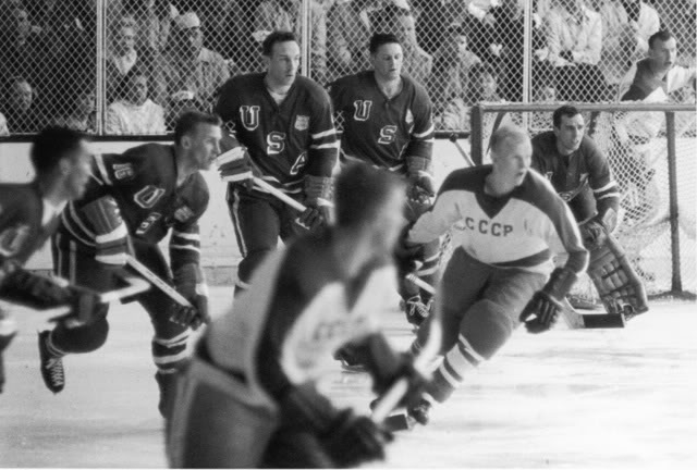 The 3-2 victory over the Soviet Union by the United States at Squaw Valley in 1960 is probably better remembered than the US win over Canada that year because a) it was the second last US game b) the contest was televised nationally on a Saturday afternoon and c) the Cold War Era was in full swing.