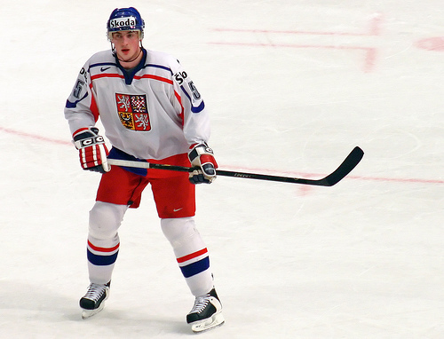 Defenseman TOMAS KABERLE of the Toronto Maple Leafs is having an outstanding offensive season with 2 goals and 31 points in 35 National Hockey League games this season. A two-time Olympian, Kaberle has appeared at seven major international tournaments (50 ga, 6 go 22 as, 28 pts) for the Czech Republic.