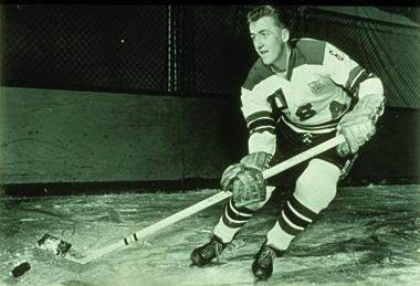 TOMMY WILLIAMS of Duluth, Minnesota, assisted on Bill Christian's winning goal in the United States' historic 3-2 upset of the Soviet Union at the 1960 Winter Olympic Games. Williams, at 19 years of age, was the youngest member of the Americans' gold medal-winning squad at Squaw Valley.