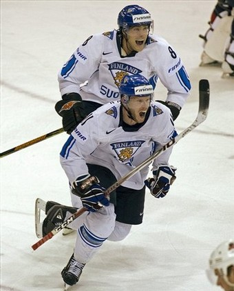 SAKU KOIVU (11), left, and TEEMU SELANNE (8), right, are Finland's two top scorers all-time at the Winter Olympic Games. The pair of Anaheim Ducks headline a heavily experienced Finnish squad set to compete at the Winter Games in Vancouver.