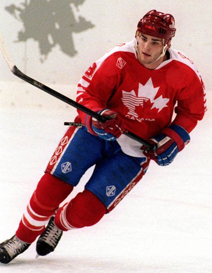18-year-old ERIC LINDROS finished tied for fourth place in scoring at the 1992 Winter Olympic Games in Albertville, France, with 11 points (5 go 6 as) in eight games. Lindros had been drafted number one overall by the Quebec Nordiques of the National Hockey League, but chose to compete for Canada at the Olympics instead and sparked controversy.