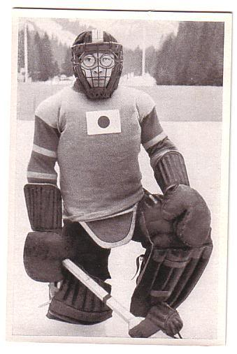 TEIJI HONMA of Japan was the first goaltender to fashion a facemask at the Winter Olympics when he appeared at the 1936 Garmisch-Partenkirchen Games. The 24-year-old wore a mask for practical purposes - to protect his eyeglasses. Honma conceded five goals in two games against Great Britain and Sweden as Japan failed to score a single goal in Germany.