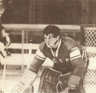 Goaltender VIKTOR KONOVALENKO was a rarity among USSR internationals in that he did not play for a Moscow-based club at some point. Konovalenko spent his entire career in the Soviet elite league tending the nets for his hometown Torpedo Gorky.