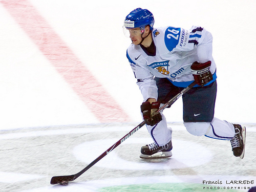 Forward JARKKO IMMONEN of Russian club Ak Bars Kazan will wear # 62 for Finland at this year's Winter Olympic Games in Vancouver, Canada.