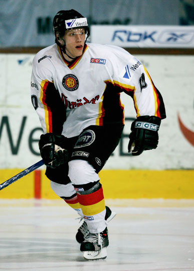 "Vancouver Canucks defenseman CHRISTIAN EHRHOFF, playing the 2010 Winter Olympic tournament in his ""home"" city, is a pivotal player for the national team of Germany."