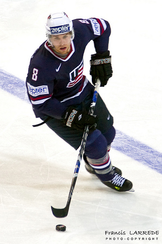 JOE PAVELSKI won an NCAA championship in 2005-06 while at the University of Wisconsin; the San Jose Shark would surely love to pocket an Olympic gold medal on his travels at the Winter Games in Vancouver this February.
