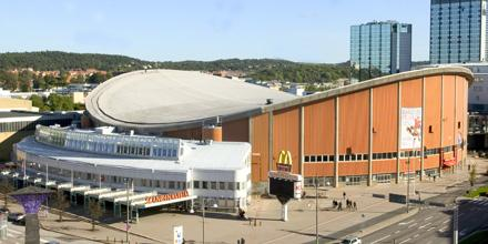 The SCANDINAVIUM ARENA in Goteborg, Sweden, which is home to HC Vastra Frolunda --- the Indians.